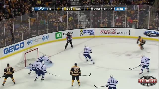 Lucic lays down the hit