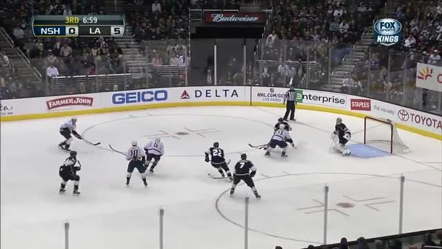 Doughty lays down a hit