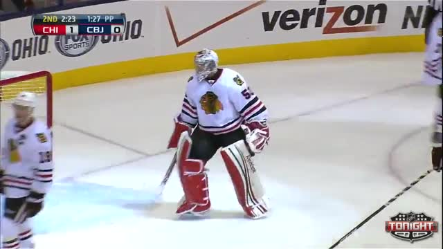 Crawford makes a great save in overtime