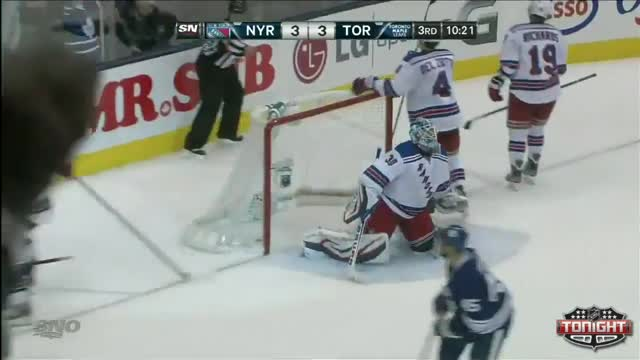 McClement lays down the hit