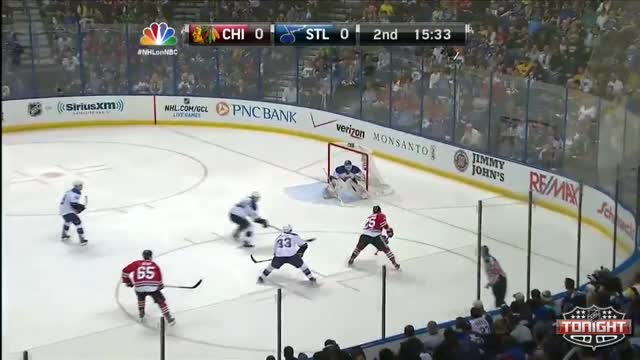 Bickell scores a heads up goal