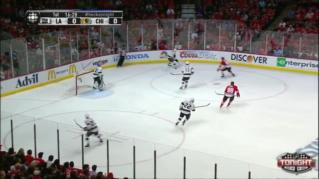 Keith gives the Blackhawks an early lead